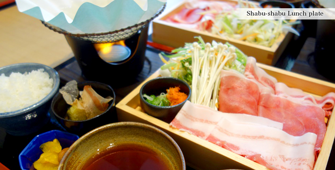 Shabu-shabu Lunch plate